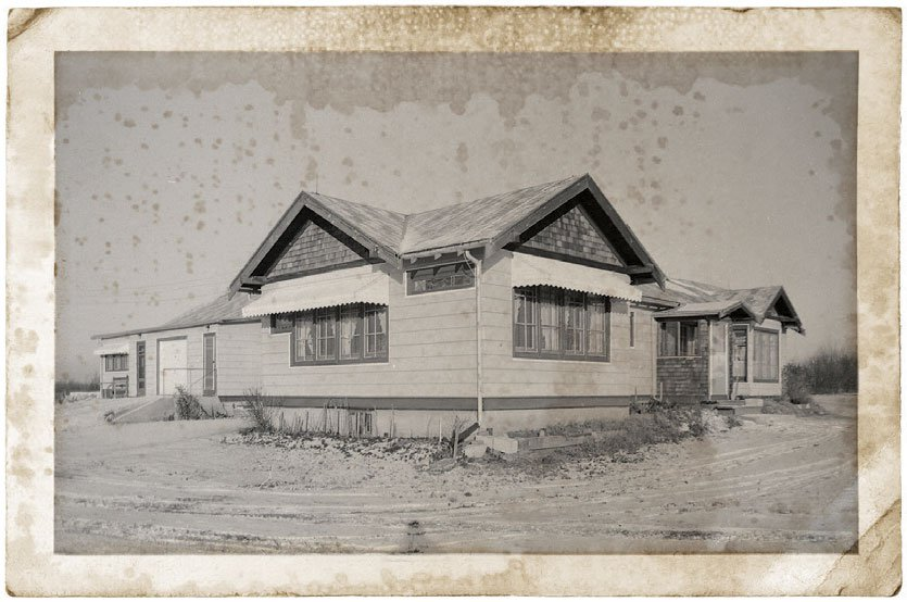 The former Cora C. Hollister House in the 1960s, after it had been moved a second time, to the Mill Woods area of Edmonton, Alberta, Canada.