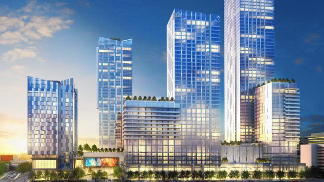 I Fei Chang is managing the $1-billion Metropolis hotel, condominium and shopping complex, above, in rendering. (Greenland USA)
