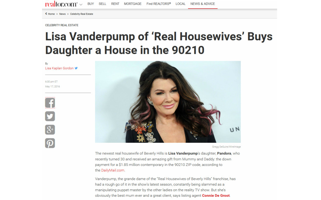 Connie sells home to Lisa Vanderpump