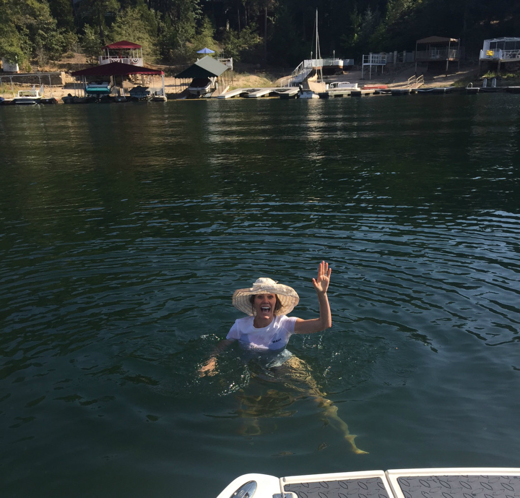 I inevitably end up in the water.