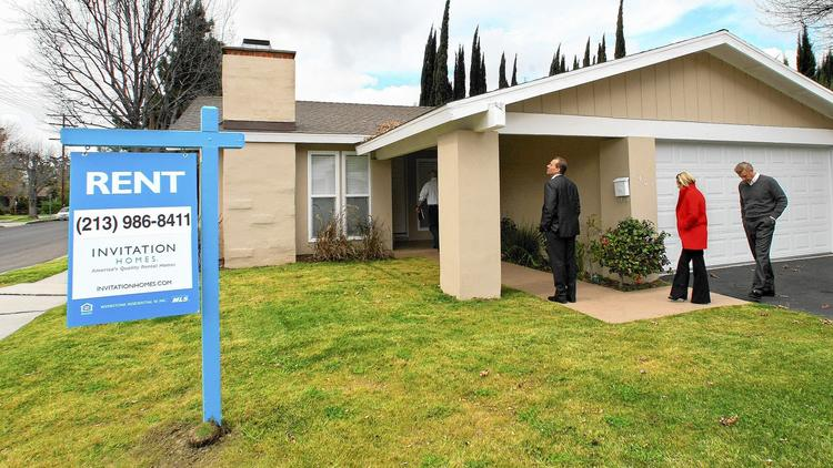 An Invitation Homes house for rent in Canoga Park. (Mel Melcon / Los Angeles Times)